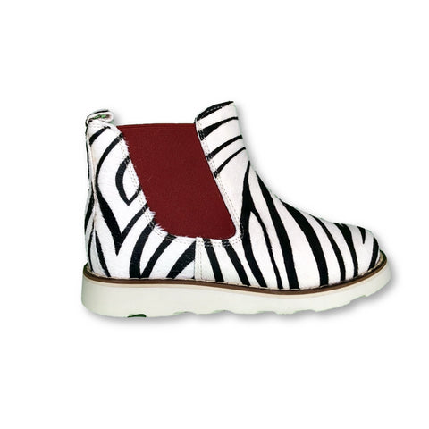 Sonatina Zebra Print Bootie-Tassel Children Shoes