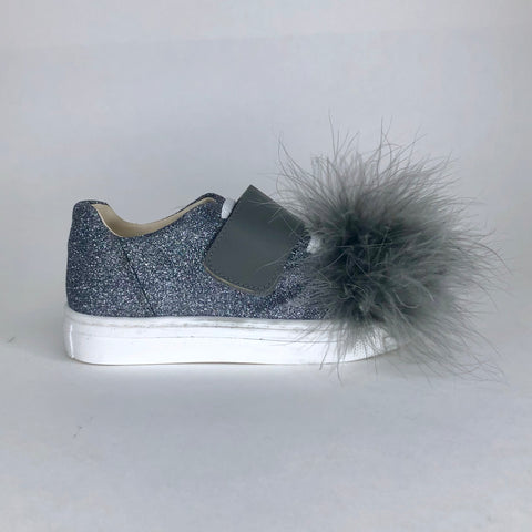 Sonatina Gray Glitter Sneaker-Tassel Children Shoes