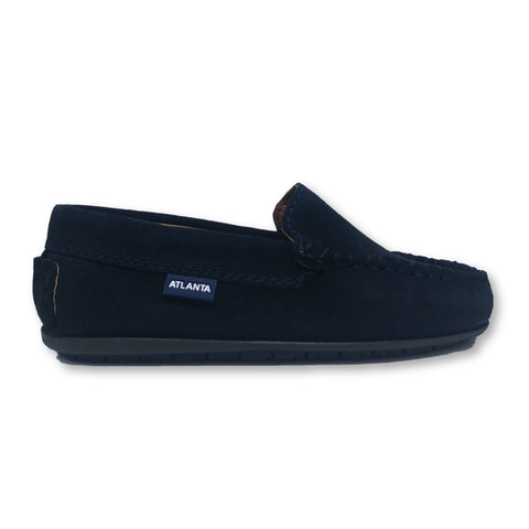 Atlanta Mocassin Navy Suede Loafer-Tassel Children Shoes
