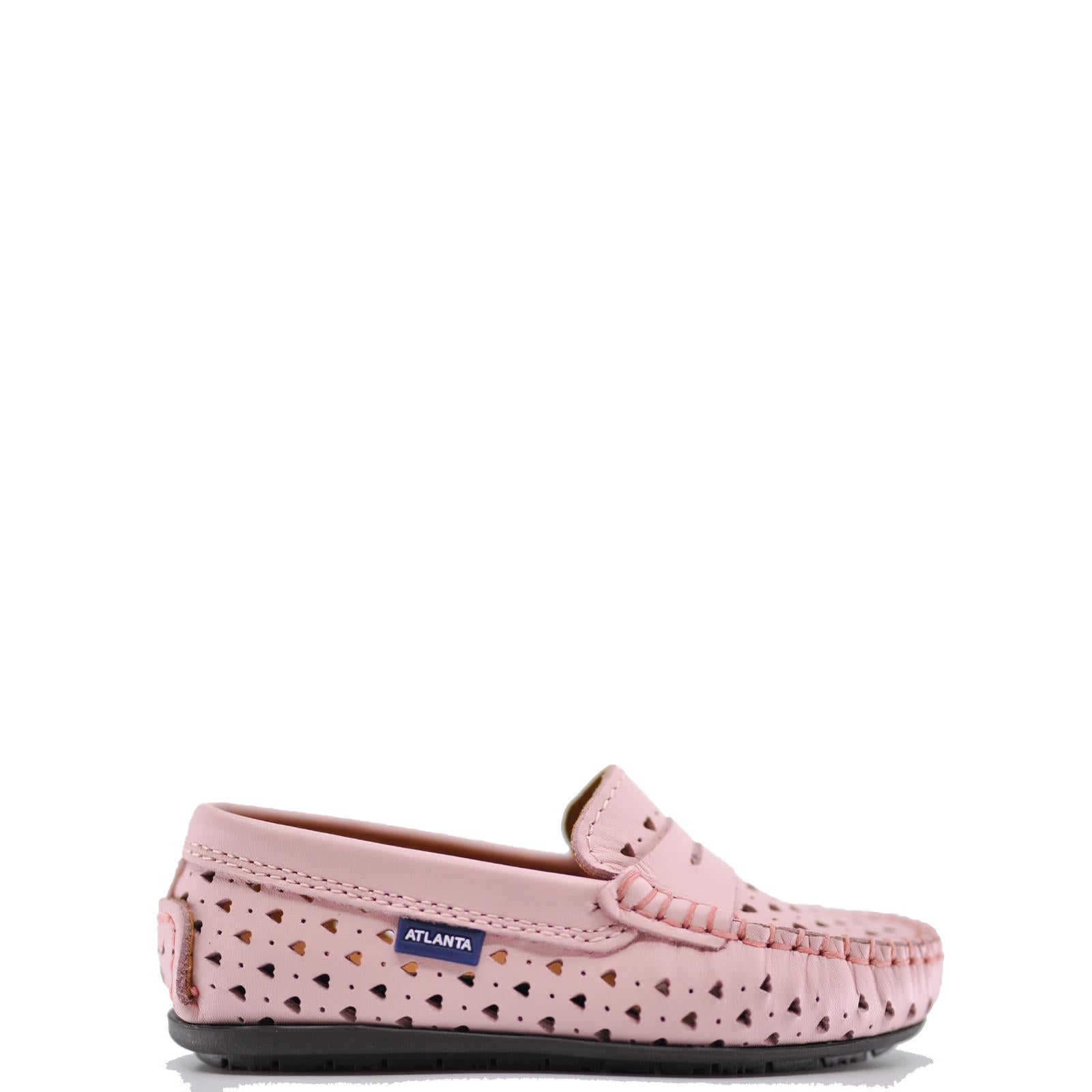 Atlanta Mocassin Light Pink Heart Penny Loafer-Tassel Children Shoes