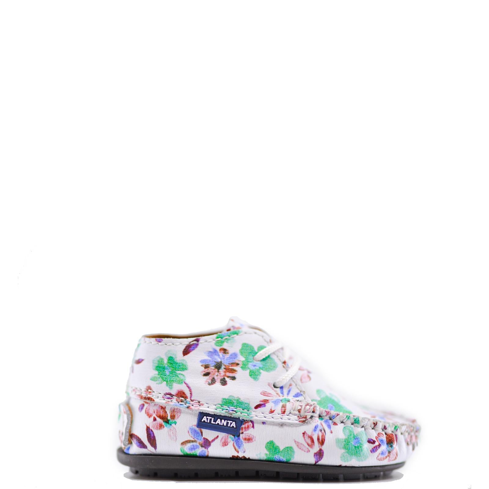 Atlanta Mocassin Multi Floral Baby Bootie-Tassel Children Shoes