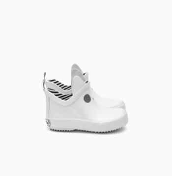 Boxbo White Low Rainboot-Tassel Children Shoes