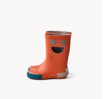 Boxbo Orange Smile Rainboot-Tassel Children Shoes