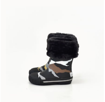 Boxbo Black Camo Rainboot-Tassel Children Shoes