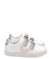 Veja Pink and Silver Velcro Sneaker-Tassel Children Shoes