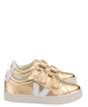 Veja Gold Metallic Velcro Sneaker-Tassel Children Shoes