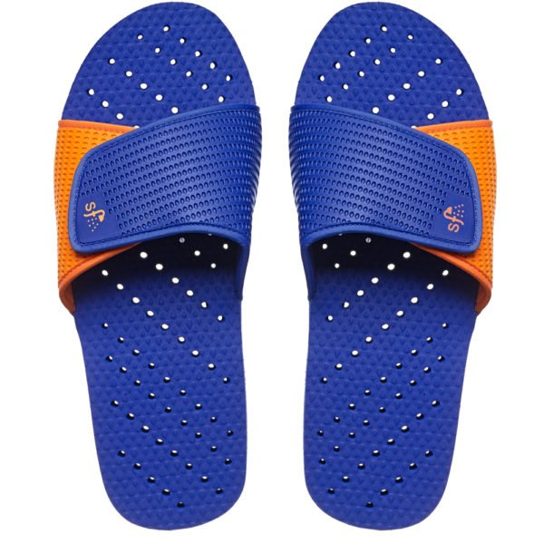 Showaflops Royal Blue/Orange Slides-Tassel Children Shoes