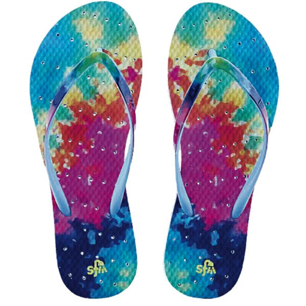 Showaflops Tie Dye Flip Flop-Tassel Children Shoes