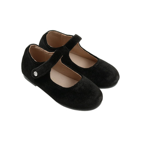 Zeebra Blackstone Velvet Mary Jane-Tassel Children Shoes