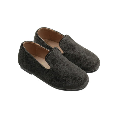 Zeebra Hamilton Grey Velvet Loafer-Tassel Children Shoes