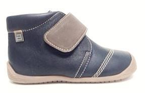 Andanines Navy Leather Bootie-Tassel Children Shoes