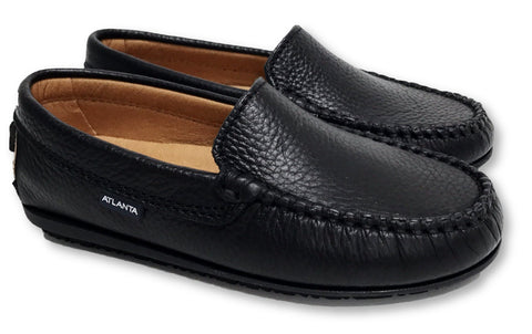 Atlanta Mocassin Black Loafer-Tassel Children Shoes