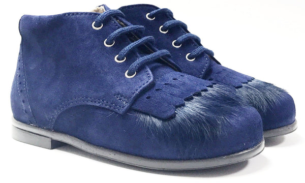 Beberlis Royal Blue Fringe Bootie-Tassel Children Shoes