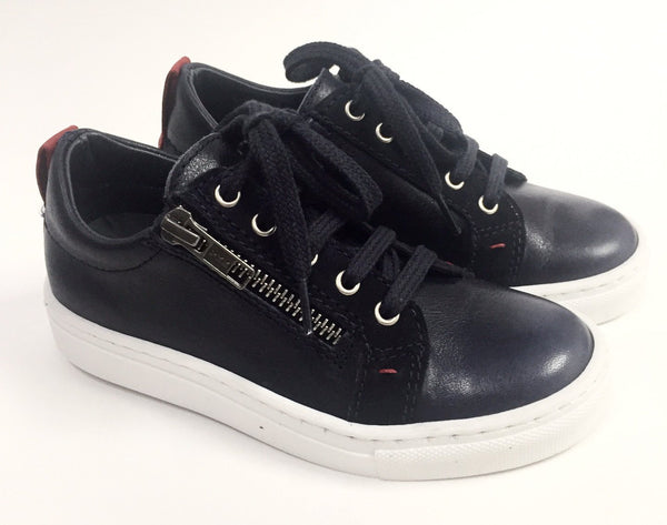 BluBlonc Navy and Red Lace Sneaker-Tassel Children Shoes