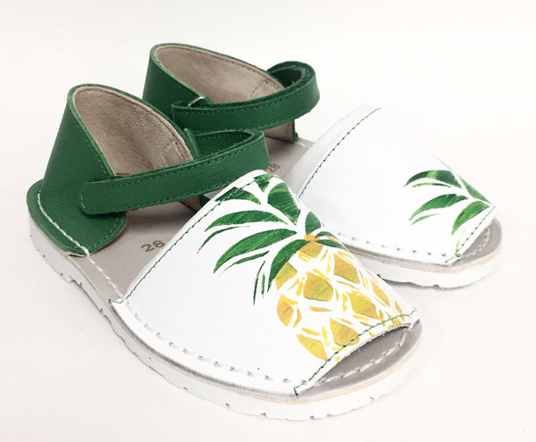 BluBlonc Pineapple Print Sandal-Tassel Children Shoes