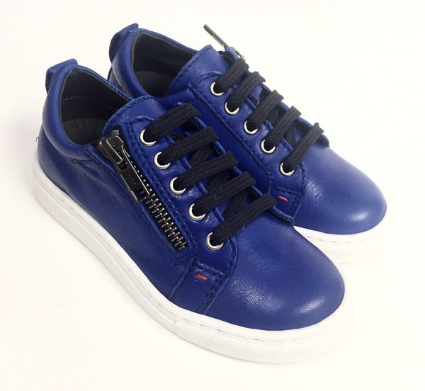 BluBlonc Royal Blue Lace Sneaker-Tassel Children Shoes