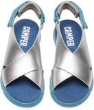 Campers Silver/Blue Sandal-Tassel Children Shoes