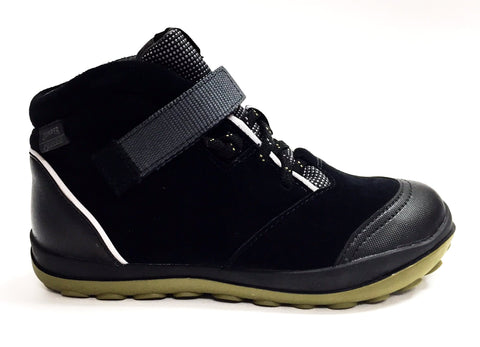 Campers Black Suede Waterproof Boot-Tassel Children Shoes