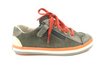 Campers Gray and Orange Lace Sneaker with Side Zipper-Tassel Children Shoes