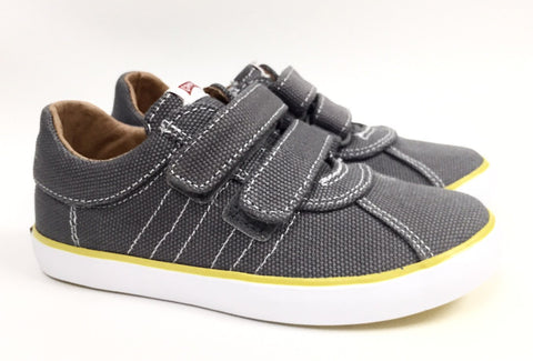 Campers Gray Double Velcro Canvas Sneaker-Tassel Children Shoes