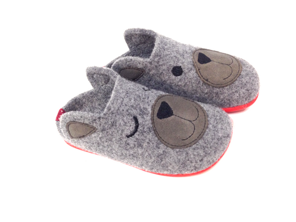 Campers Gray Slipper-Tassel Children Shoes