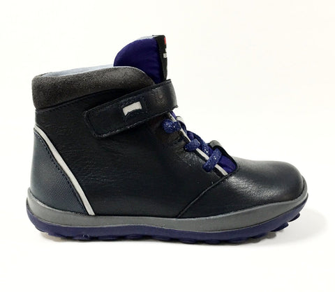 Campers Navy and Blue Waterproof Boot-Tassel Children Shoes