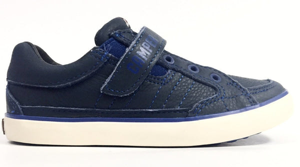 Campers Navy Blue Velcro Sneaker-Tassel Children Shoes