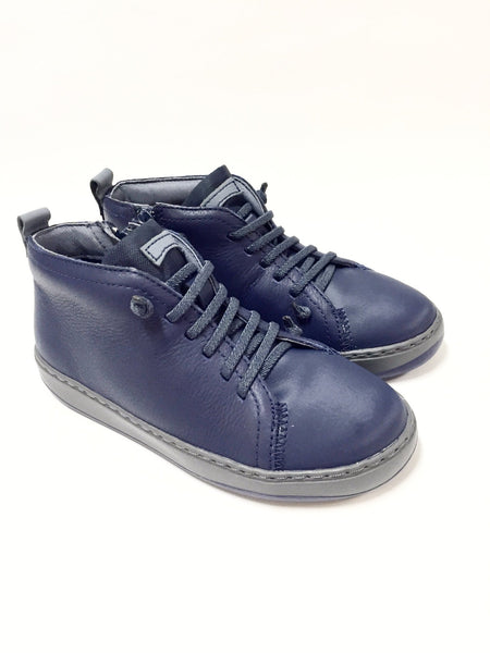 Campers Navy Leather Bootie-Tassel Children Shoes