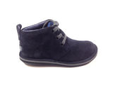 Campers Navy Suede Boot With Laces-Tassel Children Shoes