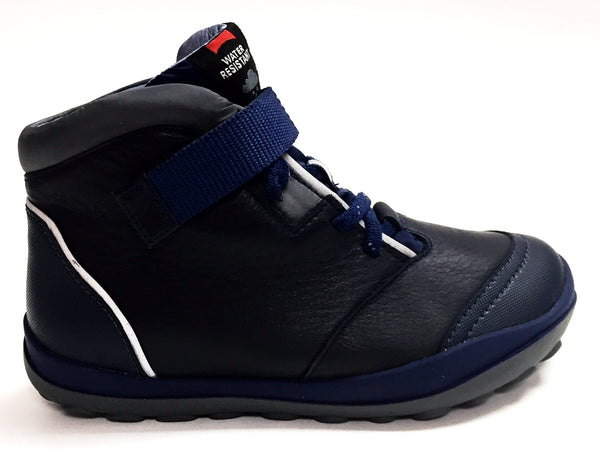 Campers Navy Waterproof Boot-Tassel Children Shoes