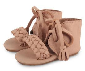 Donsje Natural Tweed, Tie Sandal-Tassel Children Shoes