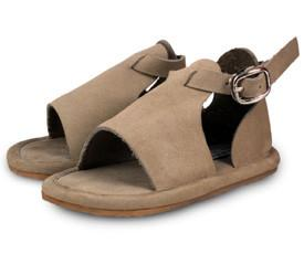 Donsje Taupe Sandal with Buckle-Tassel Children Shoes