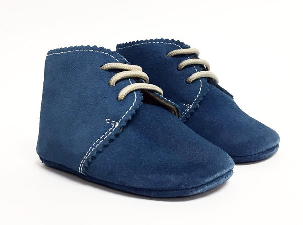 Elephantito Blue Suede Pre-Walker-Tassel Children Shoes