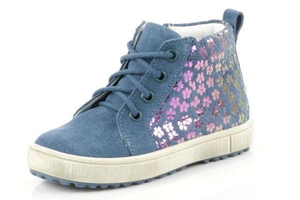 Emel Blue Flower Lace Sneaker-Tassel Children Shoes