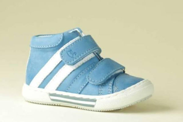 Emel Sky Blue Velcro Sneaker-Tassel Children Shoes