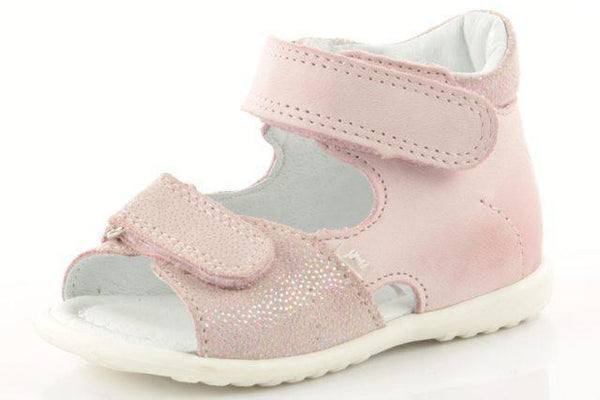 Emel Soft Pink Velcro Sandal-Tassel Children Shoes