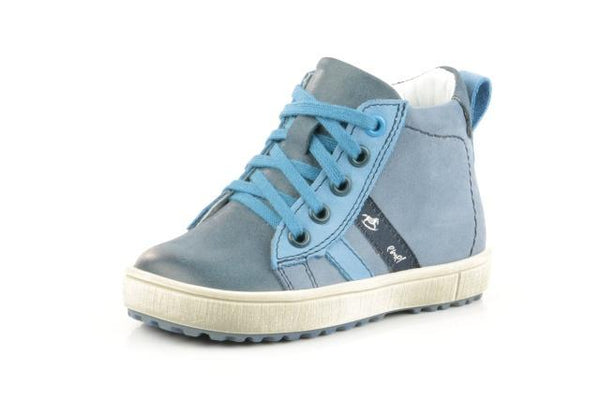 Emel Two-tone Blue Lace Sneaker-Tassel Children Shoes