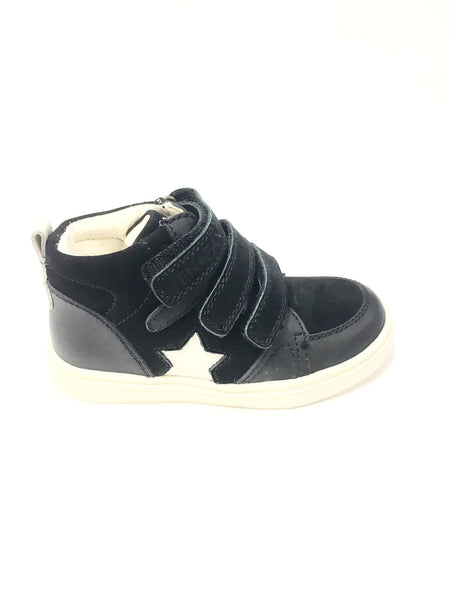 Enfant Black Star Velcro Sneaker-Tassel Children Shoes
