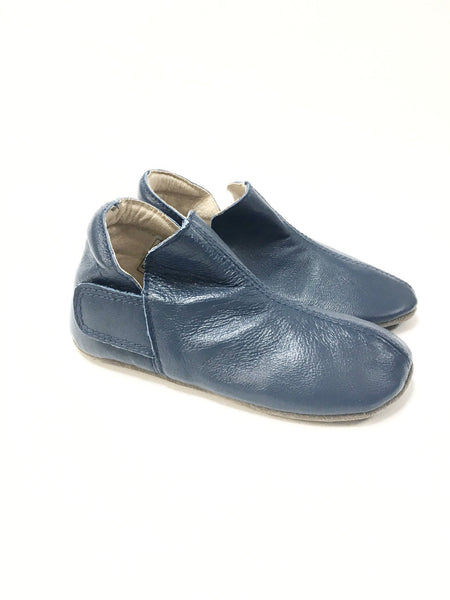 Enfant Blue Velcro Slipper-Tassel Children Shoes
