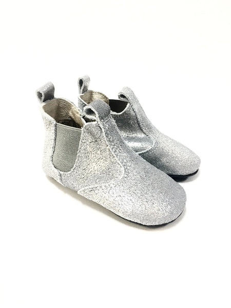 Enfant Silver Bootie Slipper-Tassel Children Shoes