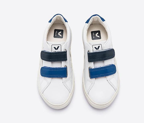 Veja Blue Velcro Sneaker-Tassel Children Shoes