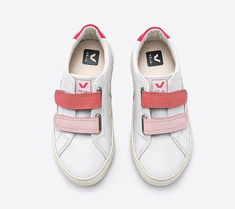 Veja Pink Velcro Sneaker-Tassel Children Shoes