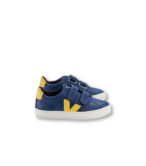 Veja Cobalt and Yellow Sneaker-Tassel Children Shoes