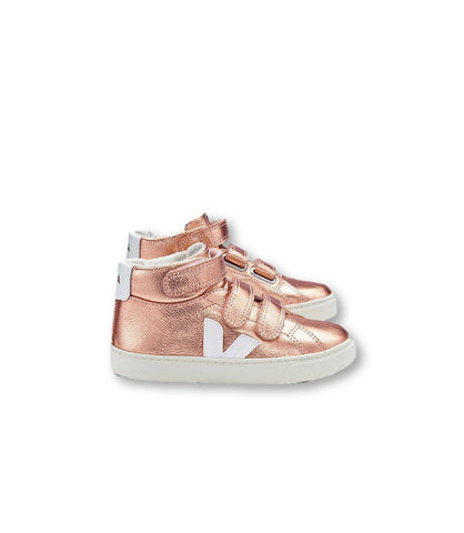 Veja Rose Gold High Top Sneaker-Tassel Children Shoes