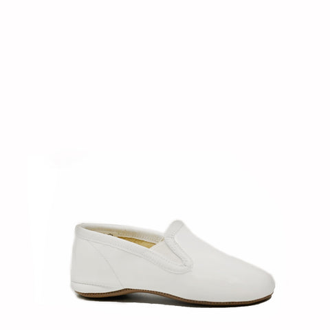 Pepe White Patent Slipper-Tassel Children Shoes