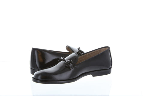 Hoo Black High Shine Chain Loafer-Tassel Children Shoes