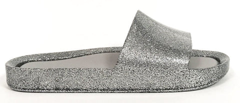 Melissa Silver Beach Slide-Tassel Children Shoes