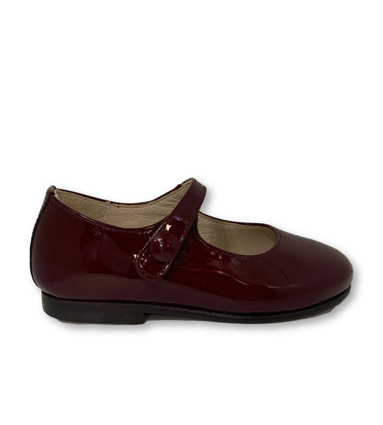 Beberlis Burgundy Patent Mary Jane-Tassel Children Shoes
