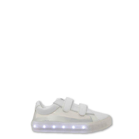 POP Velcro Clear White Light-Up Sneaker-Tassel Children Shoes
