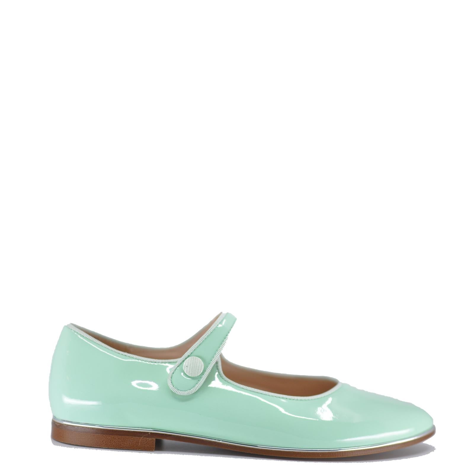 Beberlis Mint Pointed Mary Jane-Tassel Children Shoes